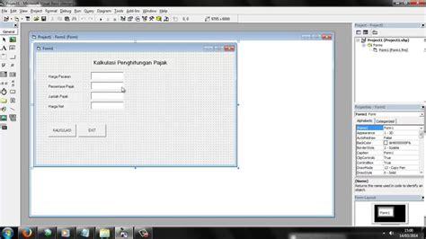 tutorial membuat faktur pajak tutorial membuat aplikasi menghitung pajak dengan visual