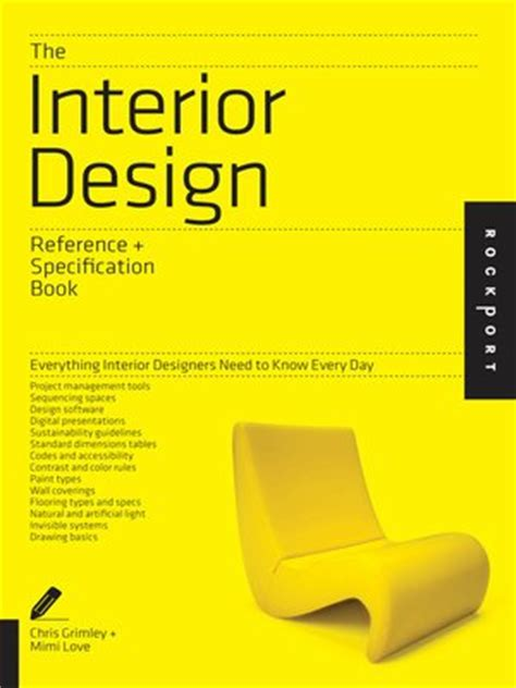 interior design reference specification book