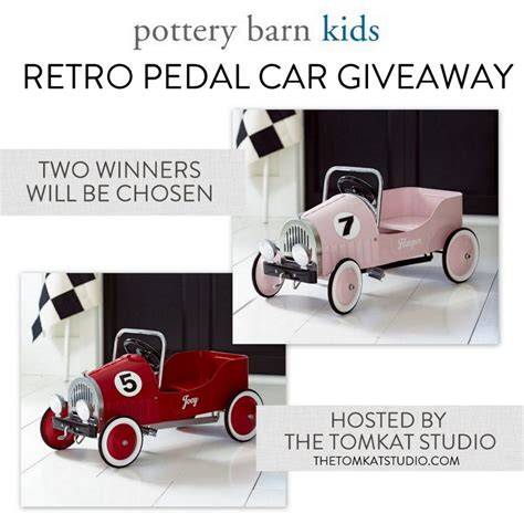 Pottery Barn Giveaway - the tomkat studio blog pottery barn kids giveaway retro pedal cars