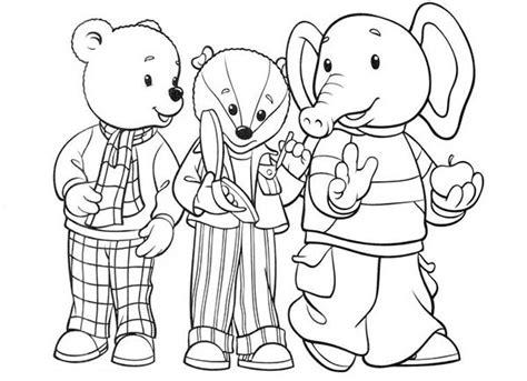 rupert bear coloring pages rupert bear and friends coloring pages rupert bear and