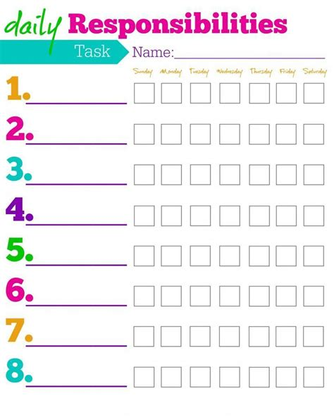 printable toddler chore chart free printable chore charts for kids ideas by age