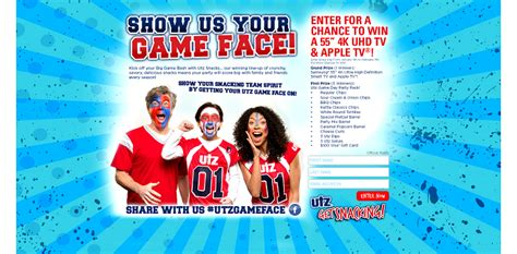 Game Face Sweepstakes - utz game face 2016 show your game face