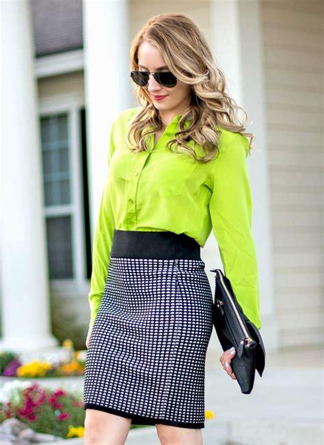 Id Color Paint Blouse Green neon lime green top neon orange pumps