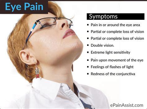 eye pain and light sensitivity eye pain types causes signs eye examination treatment