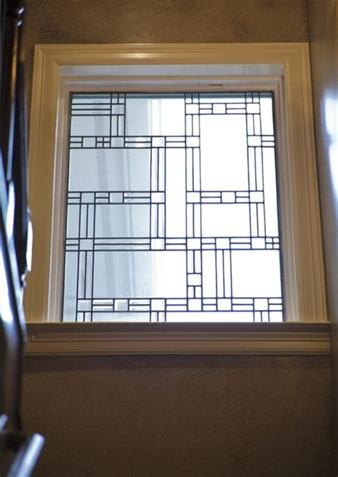 Staircase Window Ideas Leaded Glass Window