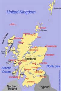 map of showing major cities map of scotland showing major cities scotland