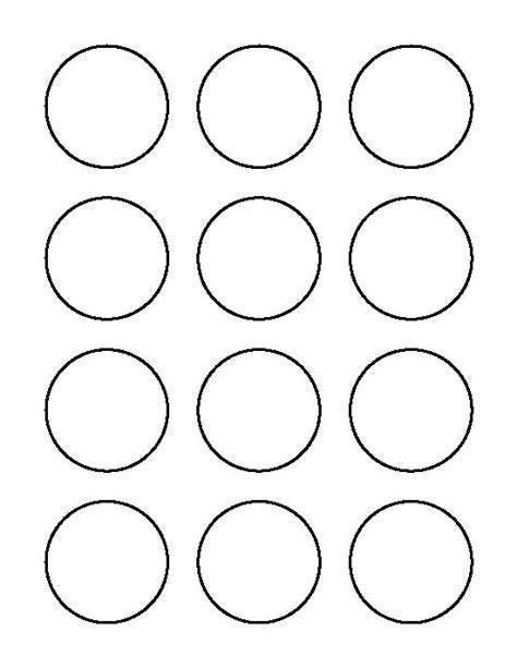 2 inch circle pattern use the printable outline for