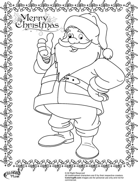 santa claus face coloring pages
