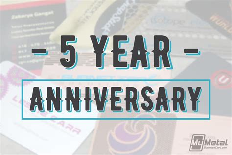 5 Year Anniversary Card Template by Metal Business Cards Asi Images Card Design And Card