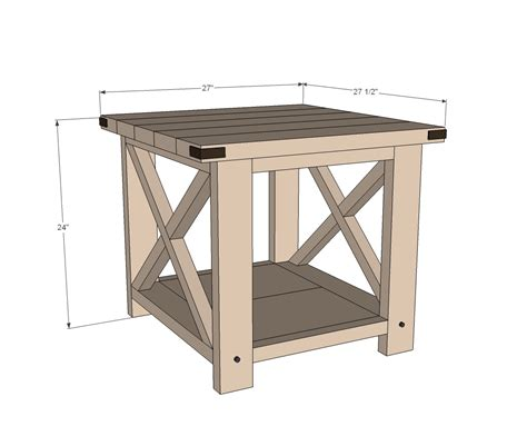 Wood End Table Diy Plans