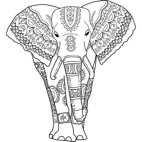 elephant mandala coloring books this is quot mystical elephant quot a coloring page for you to