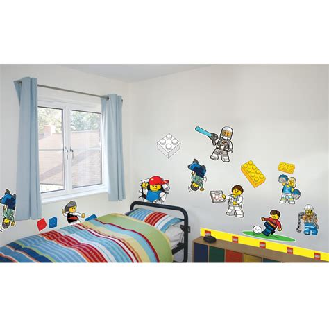 lego classic wall stickers official new 25 pieces room decor