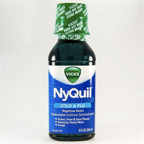 Rena Maxy Ori D Recommended nyquil cold flu liquid acetaminophen dextromethorphan