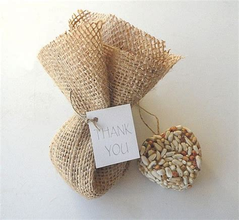 shabby chic wedding favors bird seed hearts burlap bags wedding favors trendy