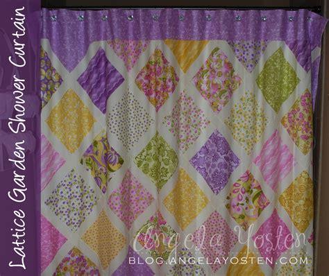 shower curtain tutorial angela yosten lattice garden shower curtain tutorial