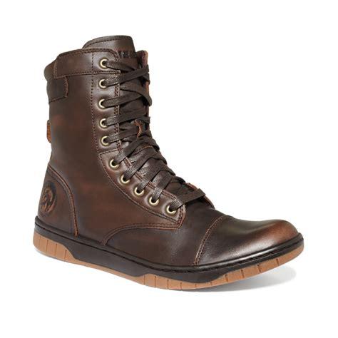 diesel boots mens diesel tatradium basket butch zip boots in brown for