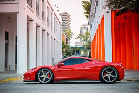 ferrari 458 wheels ferrari 458 italia on velos s5 1pc forged wheels