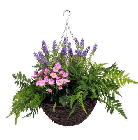 artificial wild flower hanging basket blooming artificial