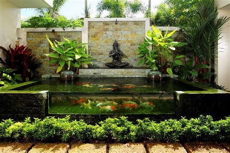 backyard fountains ideas building garden pond fountains backyard design ideas