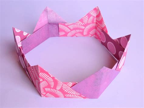 Easy Paper Folding Crafts - origami crowns easy paper craft for what can we do