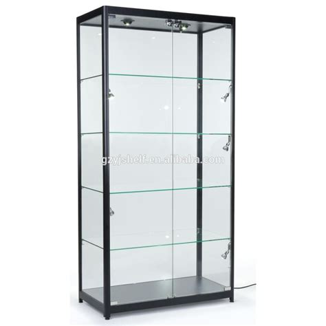 black curio cabinet with glass doors glass curio display cabinet foter
