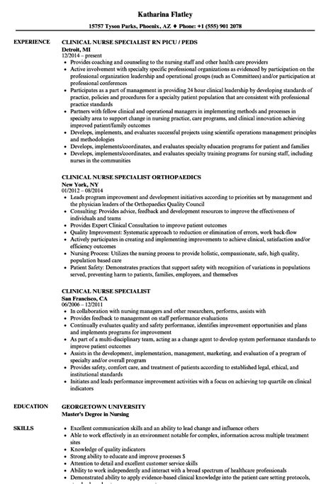 Football Equipment Manager Cover Letter by Clinical Specialist Sle Resume Visual Manager Cover Letter