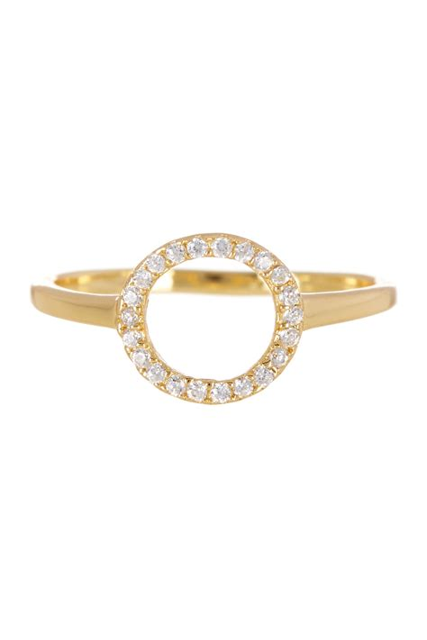 argento vivo 18k gold plated sterling silver cz accented