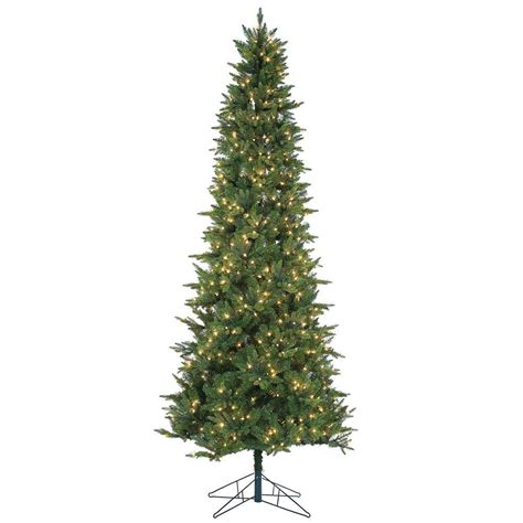 9 ft pre lit tree sterling 9 ft pre lit cut salem spruce artificial