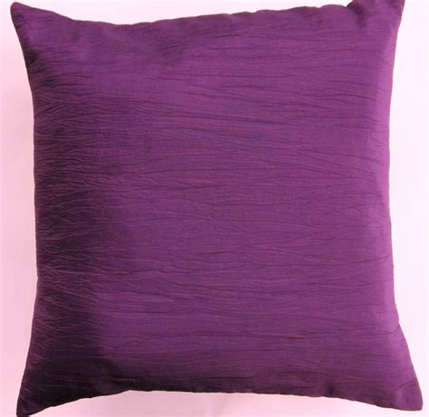 purple throw pillows canada purple pillow cover crinkled eggplant purple by sassypillows
