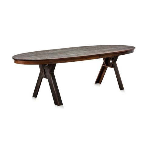 Table Ovale Bois by Superbe Table 224 Manger Contemporaine Ovale En Bois De Fer