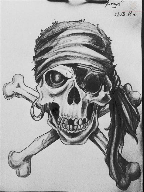 skull bones tattoo designs 23 pirate skull designs