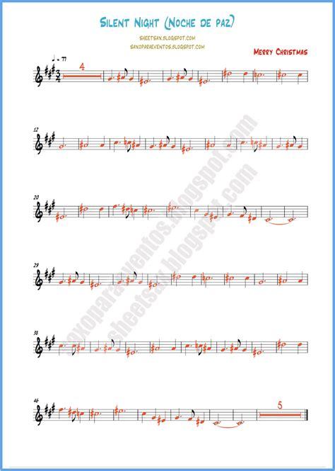 printable lyrics to noche de paz silent night free christmas sheet music and playalong