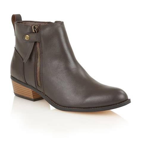 brown leather ankle boots buy ravel riverside ankle boots in brown
