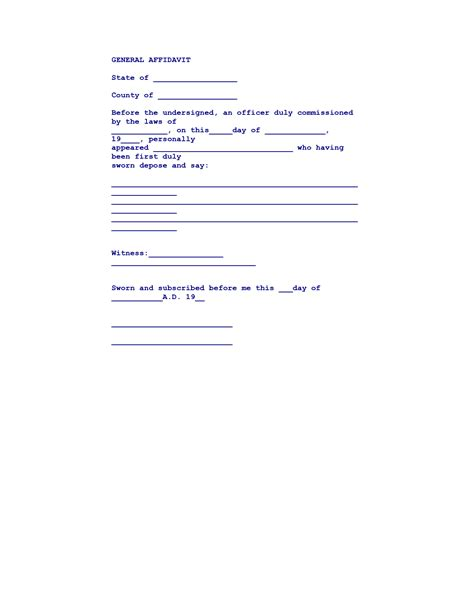 printable affidavit form single status affidavit texas