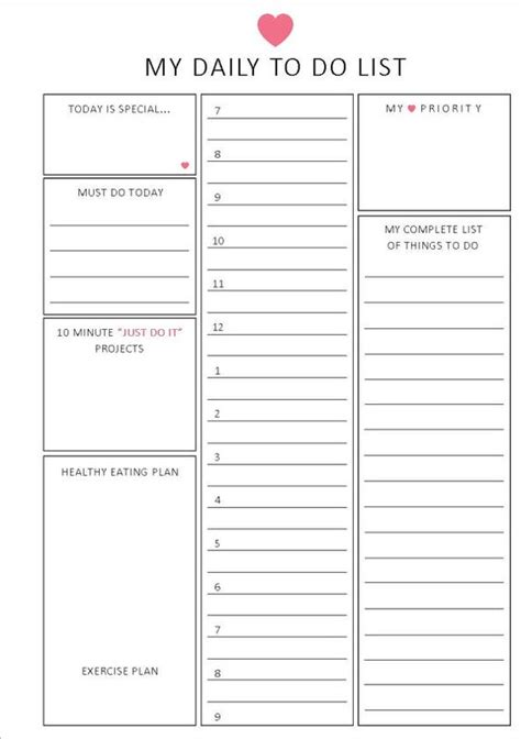 Interactive To Do List Template Interactive To Do List Template To Do List Template