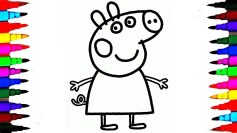 L Drawing Book by Coloring Peppa Pig Drawing Pages L Coloring Book