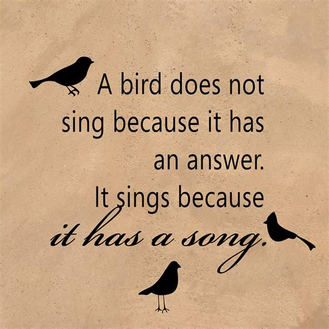 a bird sings because it has a song inspirational vinyl