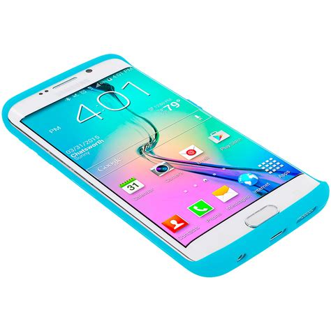 Samsung S6 Edge Soft Flower Rubber Casing Elegan baby blue silicone skin cover for samsung galaxy s6 edge casedistrict