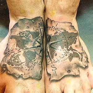 foot mapping canada compass and world map honor bound tattoos calgary
