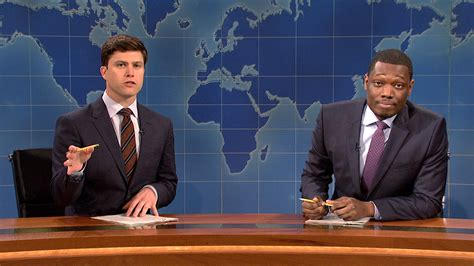 michael che from saturday night live watch weekend update colin jost and michael che talk gun