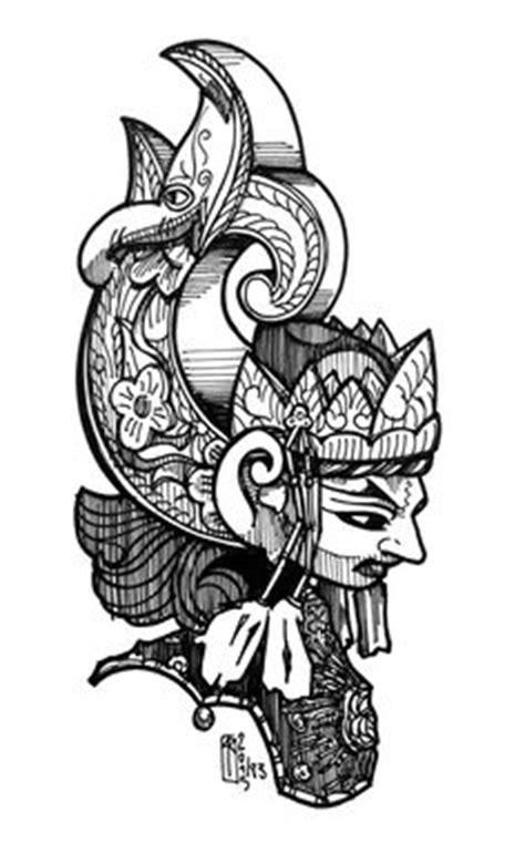 budaya tattoo indonesia gunungan wayang vector google search traditional