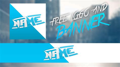 Free Clean Logo And Banner Template Free Rev 2018 Youtube Banner Template 2018