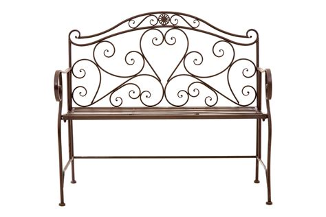 antique wrought iron garden bench ornate wrought iron metal bench antique brown patio garden ebay