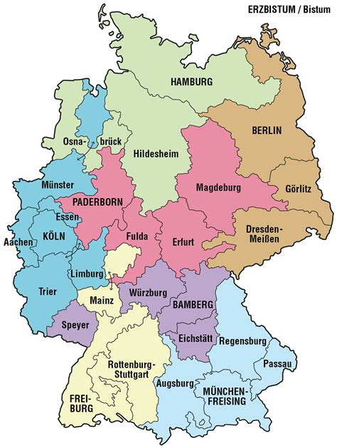 deutsche mappe file karte der erzbist 252 mer und bist 252 mer in deutschland png
