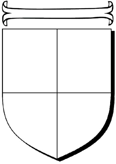 crest shield template heraldry shield template clipart best