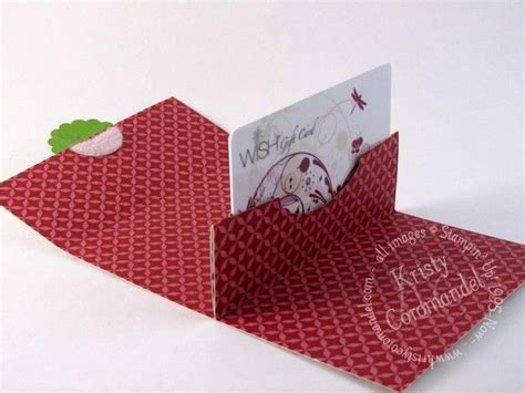 Stin Up Gift Card Holder Template by Gift Card Holders On Stin Up