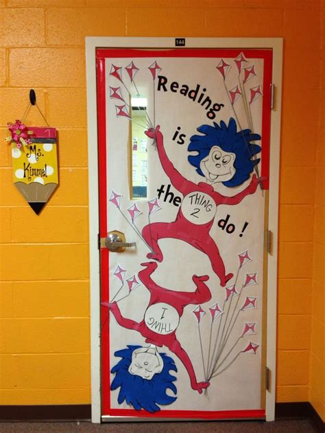 Dr Seuss Thing 1 And Thing 2 Classroom Door