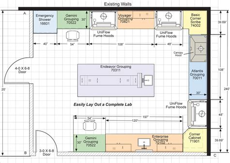 layout plan of laboratory cleanrooms