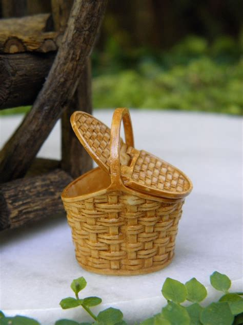 miniature fairy garden accessories tiny picnic basket