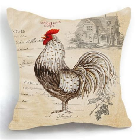 chicken home decor hlppc retro style beige chicken rooster farm house home
